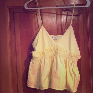 NWOT Zara yellow top